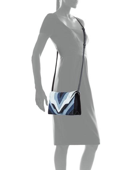 Felina Mini Patchwork Jeans Crossbody Bag