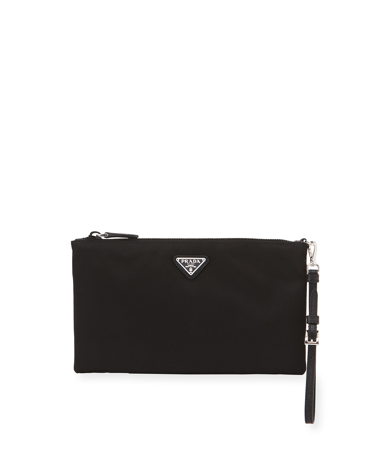 9a0bd177bdb0 Prada Vela Small Zip Pouch Clutch Bag