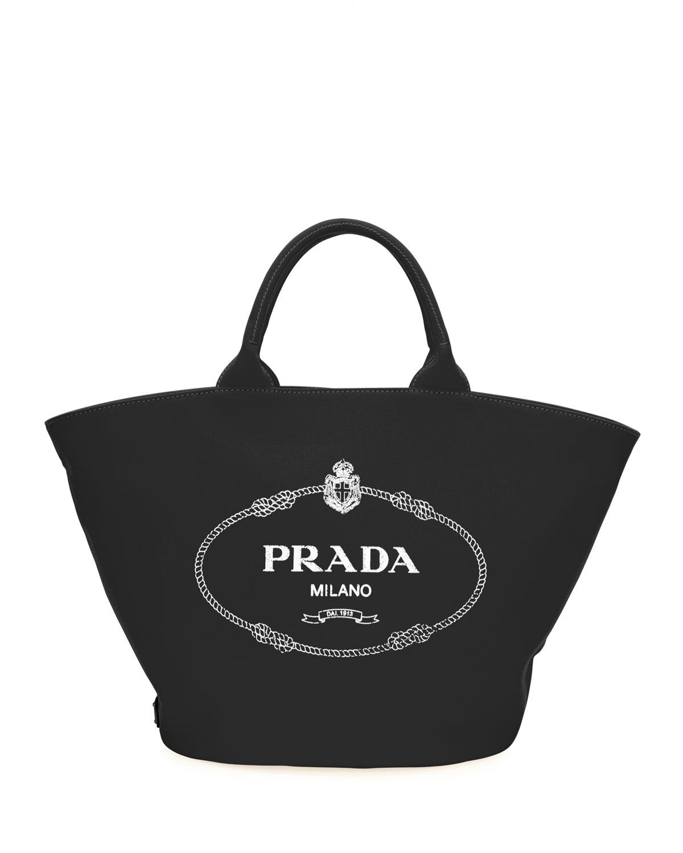 010fae489d1b82 Prada Small Canvas Tote   Neiman Marcus