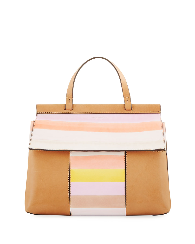 d4d7955ece5 Tory Burch Block-T Studded Satchel Bag