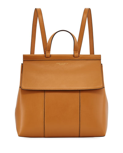 Tory Burch Block T Leather Backpack