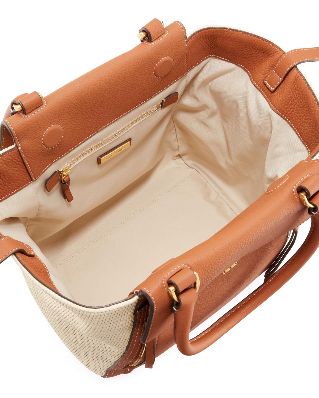 3b2d24fe45a3 Half-Moon Straw Tote Bag