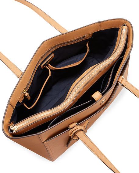 Robinson Small Saffiano Leather Zip-Top Shoulder Tote Bag