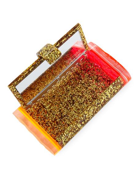 Lara Backlit Acrylic Clutch Bag