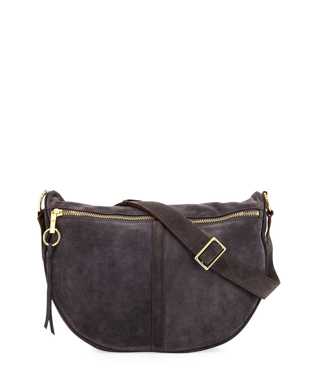 3f32f7d216dc Elizabeth   James Scott Suede Half-Moon Shoulder Bag