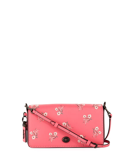 Coach 1941 Dinky Floral Leather Crossbody Bag