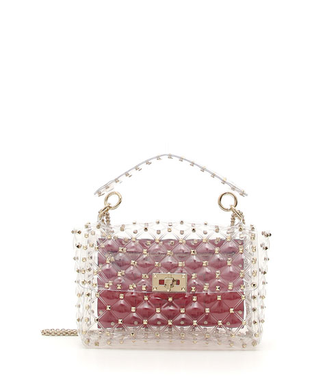 Rockstud Spike Plexi Medium Shoulder Bag