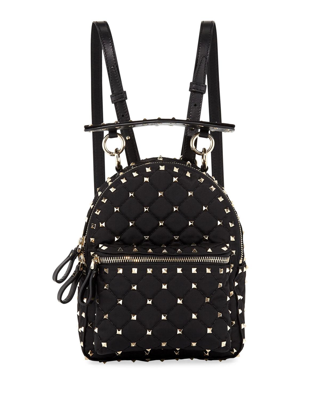 3aee3cea51 Valentino Garavani Rockstud Spike Mini Nylon Backpack