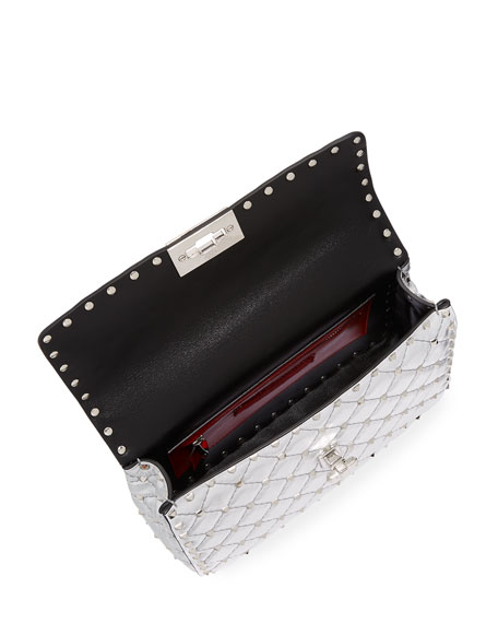 Rockstud Spike Metallic Medium Shoulder Bag
