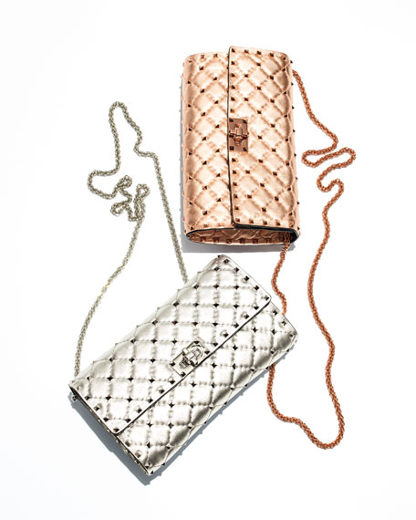 Rockstud Spike Shoulder Bag - Rose Hardware