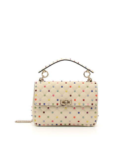 Valentino Garavani Candy-Stud Medium Shoulder Bag