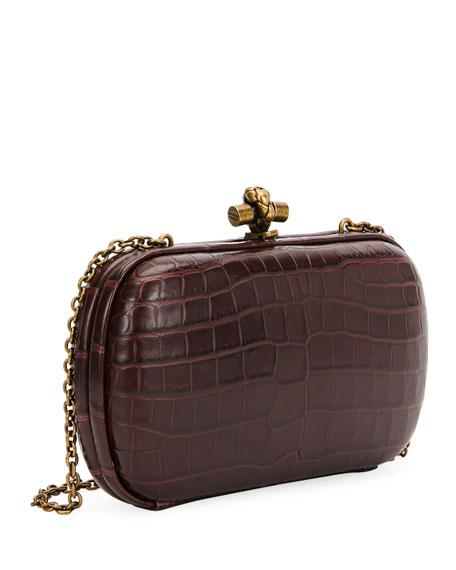 Chain Knot Crocodile Clutch Bag