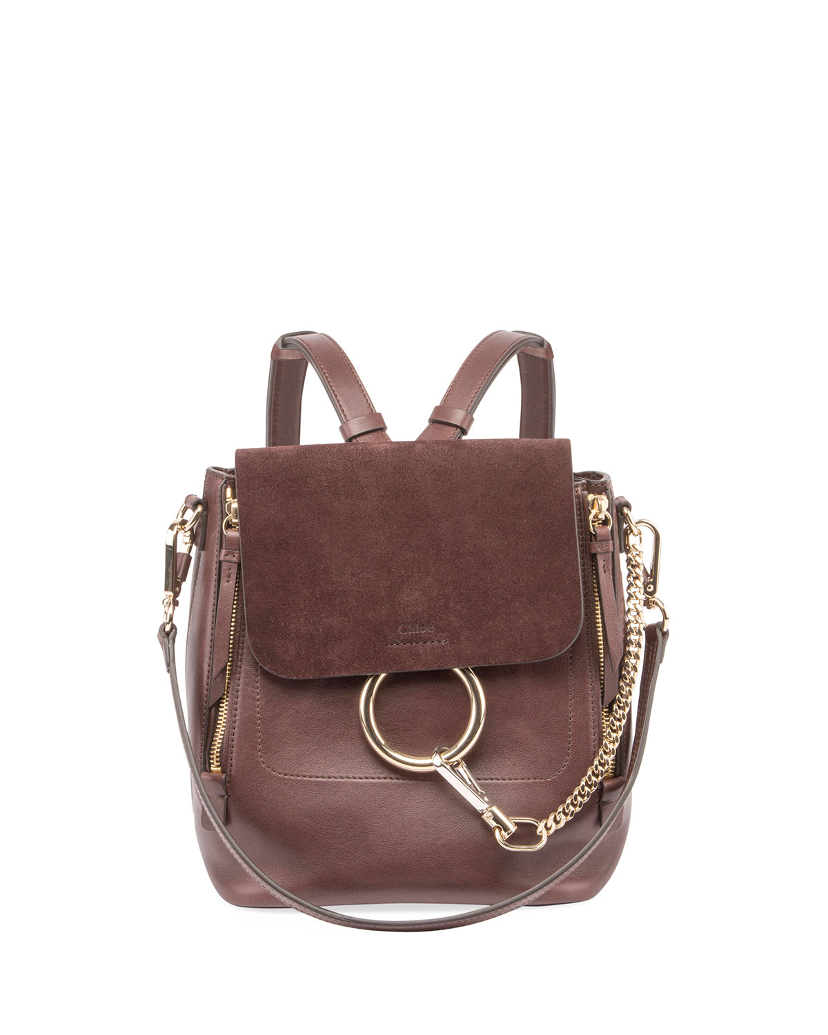 Chloe Faye Small Leather Suede Backpack  ab99dae889478