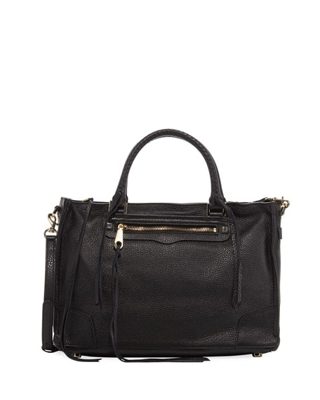 Rebecca Minkoff Regan Satchel Bag, Black
