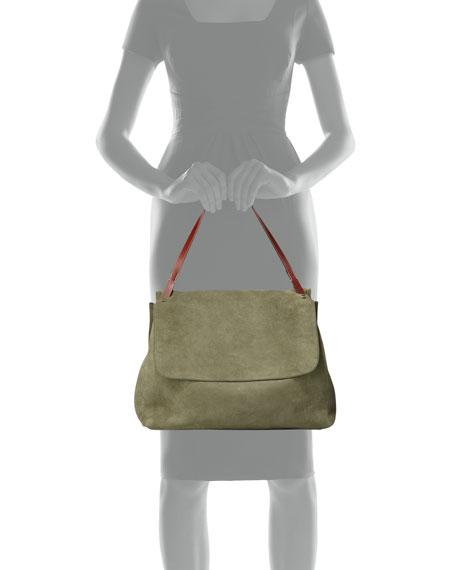 Suede Top-Handle Bag 14