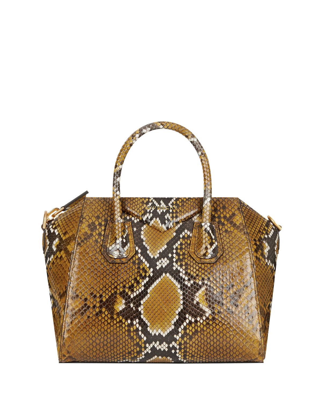 3b8e3ec53f Givenchy Antigona Small Shiny Python Satchel Bag