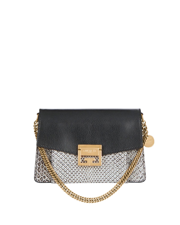 512325bcb9a9 Givenchy GV3 Small Python Crossbody Bag