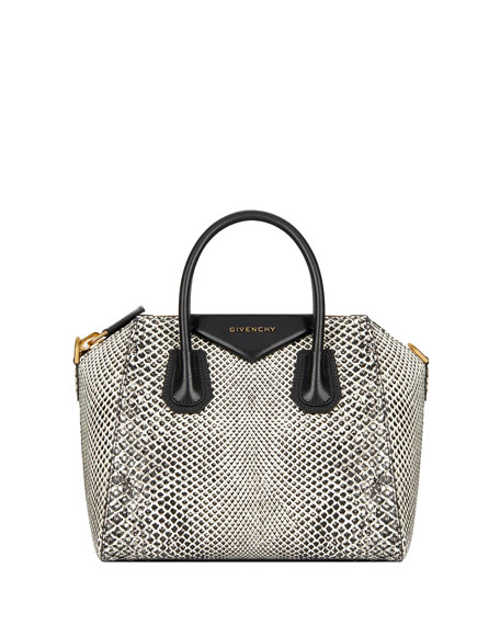 Antigona Small Snakeskin Satchel Bag