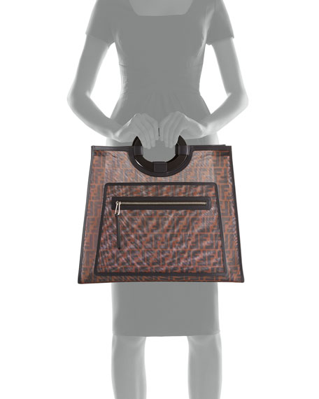 Runaway FF Mesh Shopper Tote Bag