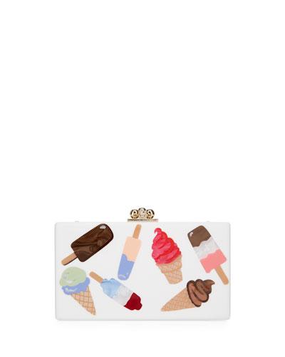 Jean Sundae Acrylic Clutch Bag