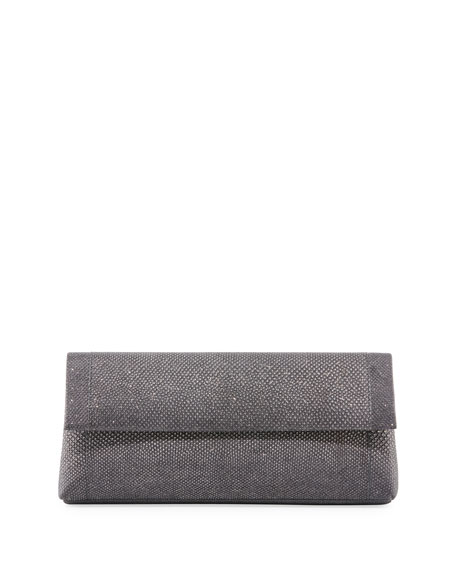 Nancy Gonzalez Gotham Karung Flap Clutch Bag