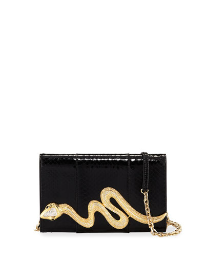 Serpent Snakeskin Clutch Bag