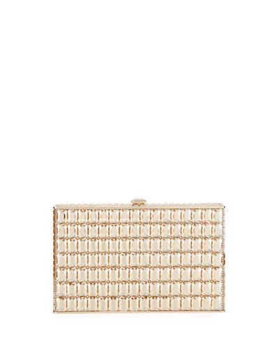 Sideways Cut Crystal Clutch Bag