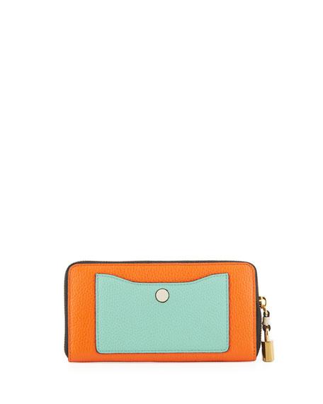 Standard Striped Continental Wallet