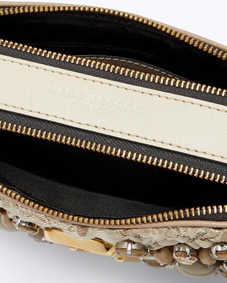 Snapshot Beaded Brocade Camera Crossbody Bag