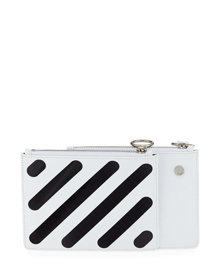 Diagonal Double Flat Clutch Bag