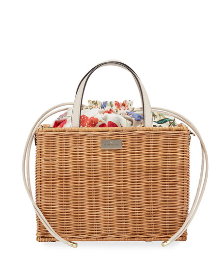 sam woven straw crossbody bag