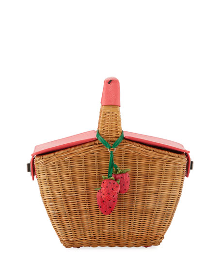 picnic perfect 3D wicker basket bag