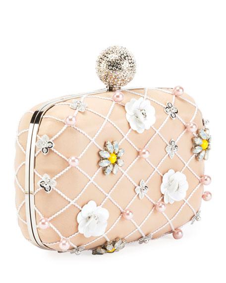 Boite De Nuit Flower Cage Clutch Bag