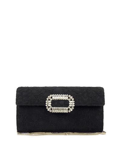 Envelope Flap Lace Clutch Bag