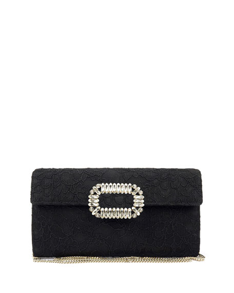Envelope Flap Lace Clutch Bag