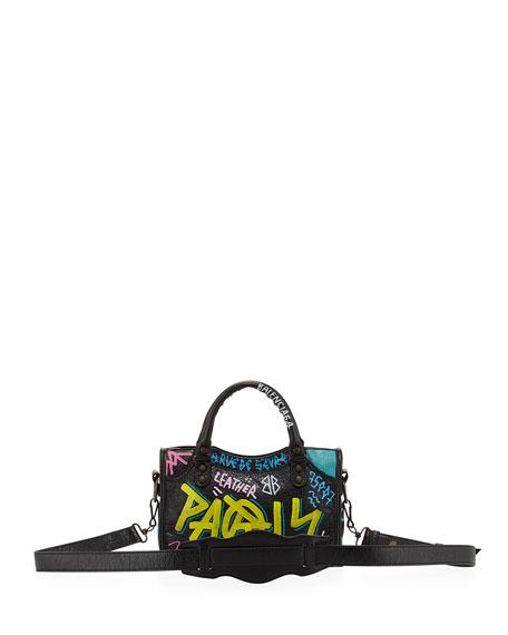 Mini City Graffiti-Print Satchel Bag
