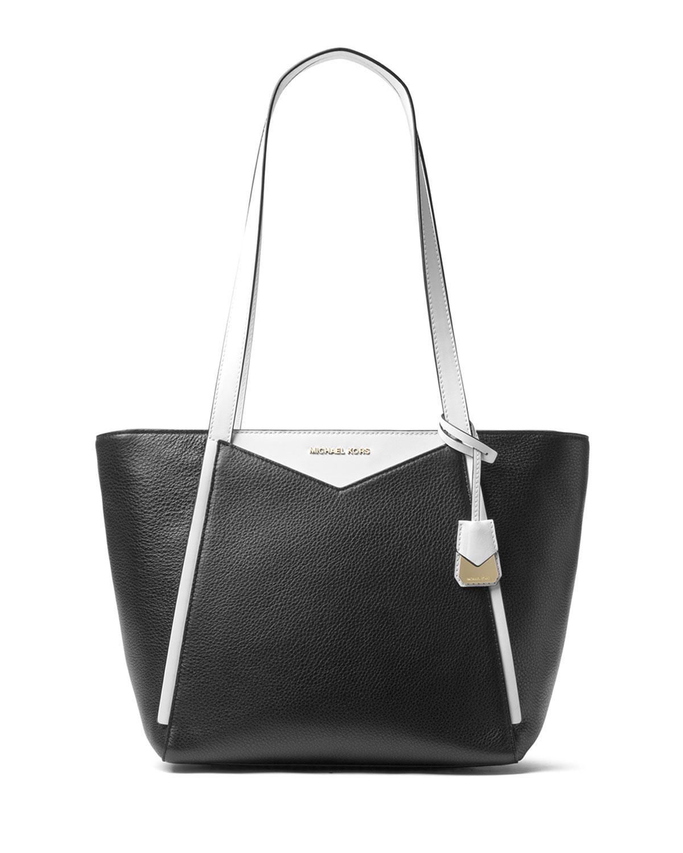 802bbdbeb2c6 MICHAEL Michael Kors Whitney Two-Tone Leather Shoulder Tote Bag ...