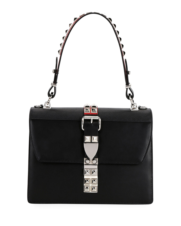 Prada Elektra Top Handle Front-Flap Bag w  Removable Crossbody Strap ... 1cc7006e68f5e