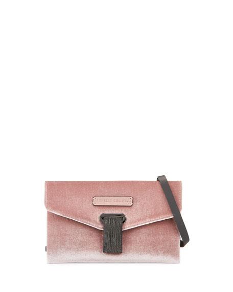 Velvet Monili Crossbody Bag
