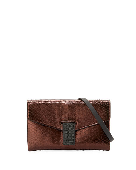 Brunello Cucinelli City Mini Python Crossbody Bag