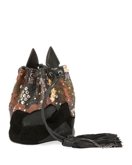 Anja Python Multicolor Bucket Bag
