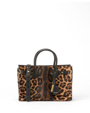 792c521b9a Saint Laurent Sac de Jour Baby Supple Leopard Satchel Bag