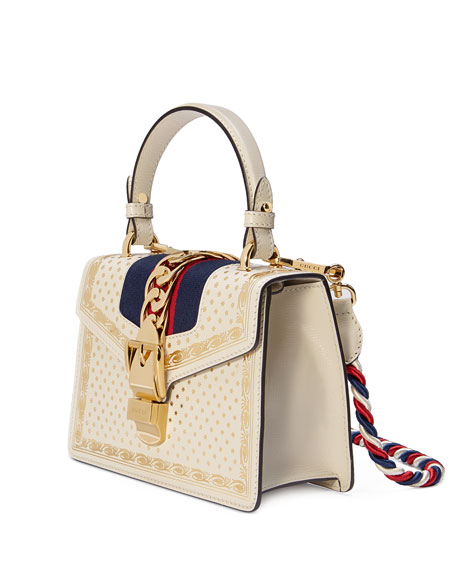 Sylvie Small Stars Leather Top-Handle Bag