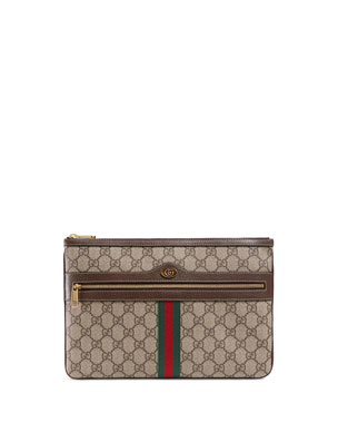 48c8b3b851e6 Gucci Ophidia Large GG Supreme Pouch Clutch Bag