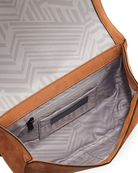 Love Quilted Nubuck Crossbody Bag