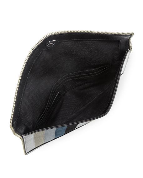 Leo Chevron Envelope Clutch Bag