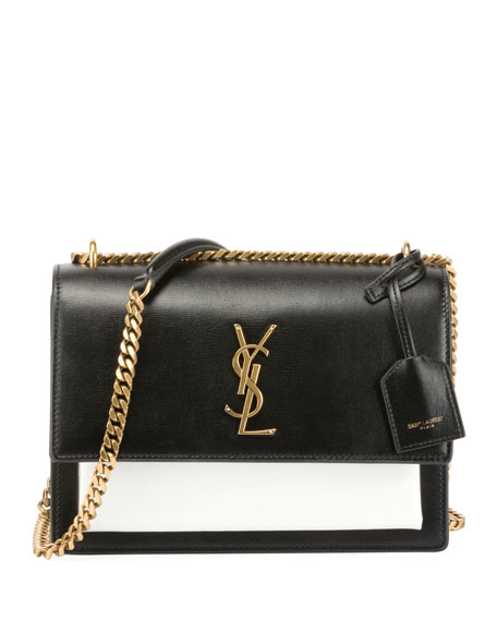 Saint Laurent Sunset Medium Bicolor Chain Shoulder Bag