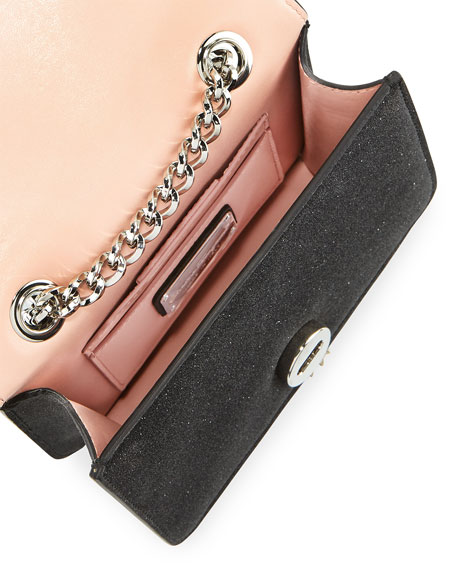 Vara Rainbow Glitter Leather Shoulder Bag