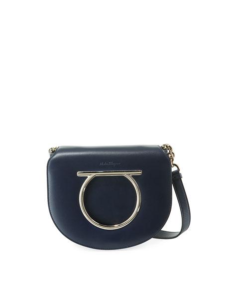 Gancio Vela Leather Shoulder Bag