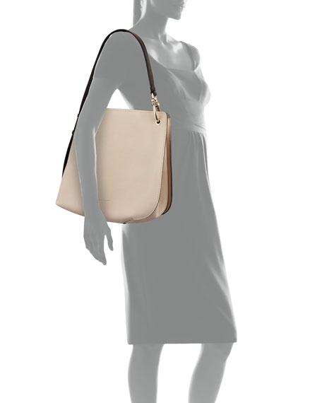Soft Pebbled Leather Hobo Bag